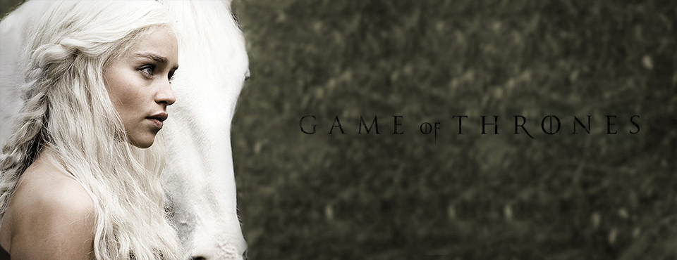 Daenerys Targaryen come appare nella serie TV A Game of Thrones.