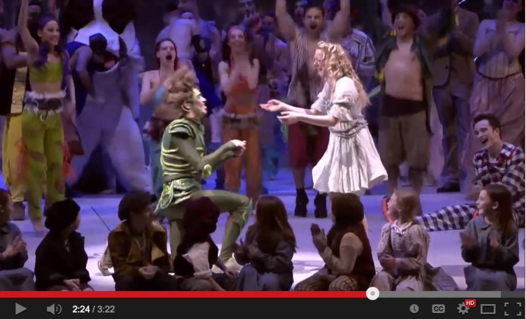 Peter Pan proposta di matrimonio