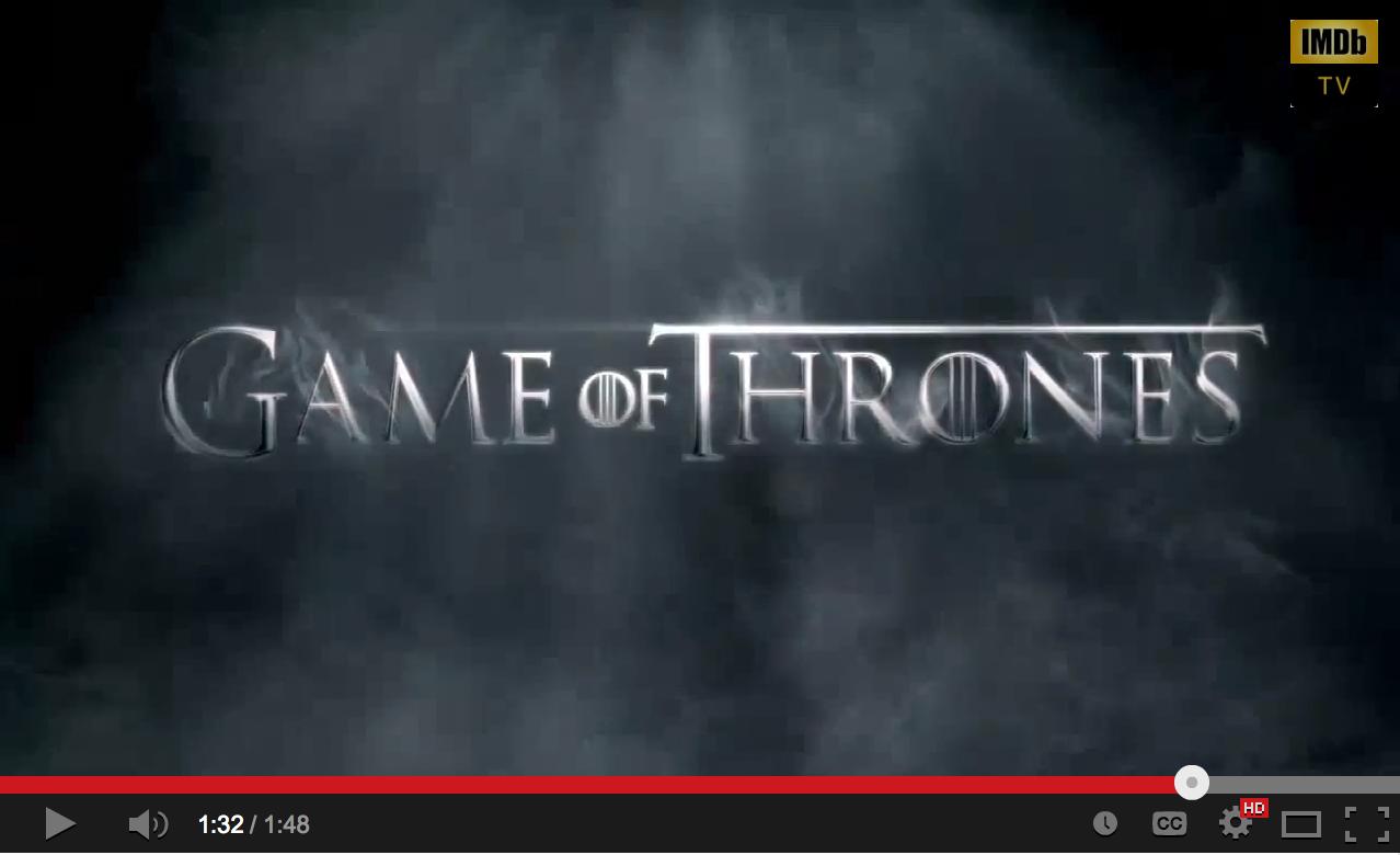 Trailer Games of Thrones 4
