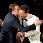 """Grande gesto di fair play tra i """"rivali"""" Leonardo di Caprio e Matthew McConaughey."""